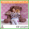 Urso gigante alto brilhante da peluche do urso 160cm do luxuoso de Brown