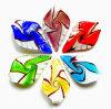 OPendant, pendente de vidro, campo de jogos do utdoor do pendente da folha (PENH0057) (038a)