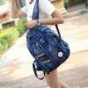 Sac à dos occasionnel de denim d'adolescent de sacs d'école de sac à dos de cartable