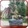 Statue cinesi del giardino del drago di Animatronic