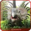 Dinossauro ao ar livre do indicador para o parque do dinossauro