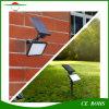 4 le projecteur solaire solaire multifonctionnel élevé de jardin de lampe de mur de copies claire 48LED 960lm Brigntness allume la lumière de pelouse de transitoire avec le pieu au sol
