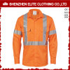 X Back Reflective Tape Cotton 100% Safety Orange Shirt pour Men