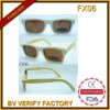 Lunettes de soleil Fx06 en bois en bambou polarisées par qualité fabriquée à la main