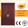 Doppelte Blatt-Haustür MDF-Tür-Auslegung (SC-P103)