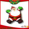 Ímãs de borracha macios Santa do refrigerador do Natal do PVC dos presentes da promoção (RC-CR014)