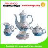 Jeu de thé peint à la main de porcelaine d'antiquité chinoise de cru