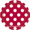 7  rojo oscuro con las placas blancas del alumerzo del papel del PUNTO