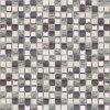 Mosaico de mármol blanco y negro