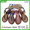 Señora hermosa baja Sandals (RW28056) de la buena calidad del talón de China