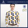 패턴 중국 도매 대량 주문 남자 셔츠를 검사하십시오