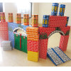 Brinquedo de tijolos de papel alegre de crianças de alta qualidade