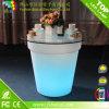 Muebles de jardín Bandeja colorida de la flor de la flor del LED
