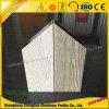 Profil en aluminium d'extrusion des graines en bois de PVDF personnalisé par constructeur en aluminium