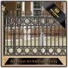 Cerca de aluminio revestida del jardín del polvo decorativo exterior para la seguridad