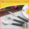 Vaisselle réglée de couverts en plastique de traitement d'acier inoxydable de bonne qualité (RYST0228C)