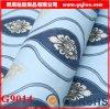 Papier peint auto-adhésif classique bleu de PVC de Damas