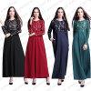 Длиннее Abaya макси исламского мусульманского Kaftan женщин шифоновое (A288)