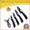 3-6  pouce a estampé le jeu en céramique de couteau pour la vaisselle de cuisine réglée (RYST0107C)
