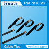 Il PVC dei campioni liberi ha ricoperto i legami della chiusura lampo dell'acciaio inossidabile del metallo per i cavi 16mm