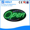 Segno aperto luminoso ovale di Hidly alto LED