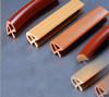 Perfil de madeira do PVC da grão da borda Shaped do PVC