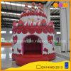 警備員(AQ02368)を広告している誕生日おめでとうのケーキの膨脹可能な警備員の赤い小型警備員