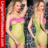 Платья сетки способа женское бельё зеленого сексуальное