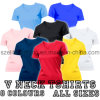 Woman (ELTWTJ-4)를 위한 주문을 받아서 만들어진 Cotton V-Neck T-Shirts