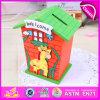 Caja de ahorro de ahorro de la caja de ahorro 2015, la mejor caja colorida de la caja de dinero de la calidad, Ahorro de dinero Caja de dinero de madera al por mayor W02A029