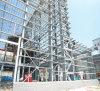 가벼운 강철 구조물 조립식 작업장 건물