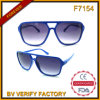 Lunettes de soleil en plastique bon marché de la vente F7154 chaude
