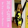 Платья Bodycon листьев Beyonce черные желтые