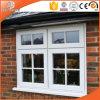 Fenêtre fixe avec fenêtre à lumière intégrale pleine partie, Fenêtre à charnière en aluminium à chaux massif en bois massif en chêne massif