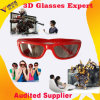 Супер Comfortable Red Passive Circular Polarized 3D Video Glasses для TV & Cinema 3D Video