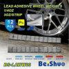 Pesos de balance adhesivos de acero de la rueda 5+10