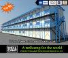 Edificio prefabricado modular móvil Tres-Storeyed