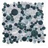 Mosaico redondo del azulejo de suelo de la aleación de 2015 Alluminum (R0106)
