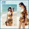 일요일 증거를 가진 여름 여자 Boho 시퐁 수영복은 은폐한다