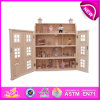 2015년 Kids를 위한 최신 New Product Toy DIY Doll House, High Quality Wooden Toy Doll House, Hot Sale Natural Wooden Doll House W06A099