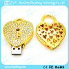 Привод вспышки USB ювелирных изделий формы замка сердца (ZYF1135)
