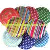 Paraboloïdes colorés jetables de papier de plaque de papier d'imprimerie