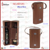 Leather de lujo Wine Box Wine Gift Box para 2 Bottle