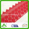 民族の明るく赤い衣服のアクセサリの幾何学的な水溶性の刺繍