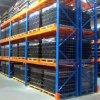Racking arancione dritto blu del pallet di memoria del magazzino del fascio