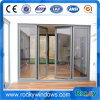 蝶番を付けられる中国アルミニウムかアパートのための現代シンプルな設計を用いる振動ドア