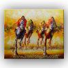 ナイフPainting/Horse動物オイルPainting/Canvasの芸術(KLAN-0018)