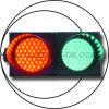 Het volledige Verkeerslicht van het Voertuig van de Bal (SPJD (1/1W) 200-3-2-RG)
