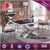 Mobília de casa de design moderno mesa de jantar de vidro temperado