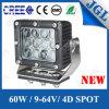Iluminación cuadrada 32V del punto LED del CREE 5W de la luz del trabajo